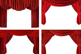 6个红色舞台幕布高清图片