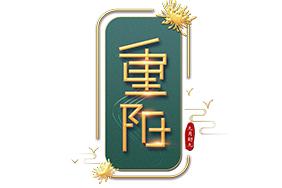 立体重阳节艺术字
