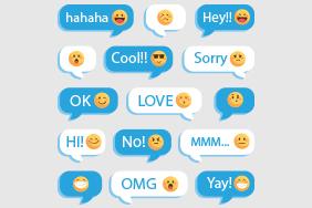 15款创意表情语言气泡