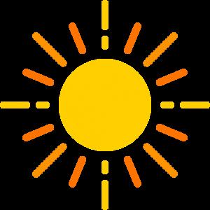 簡約卡通黃色太陽