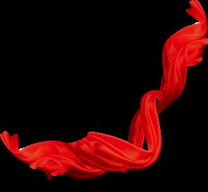 红色卷绕丝带