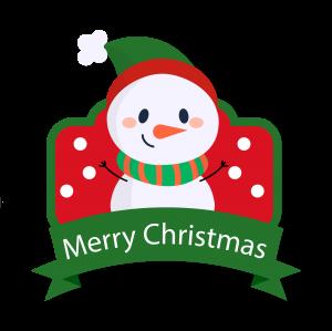 卡通圣誕節雪人祝福