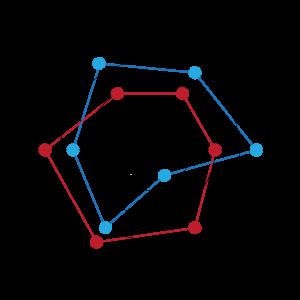 点线连接圈形图表