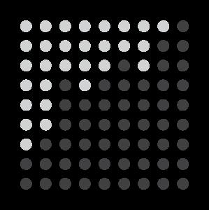 正方形黑白点线图案
