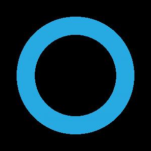 白藍色環形圓圈