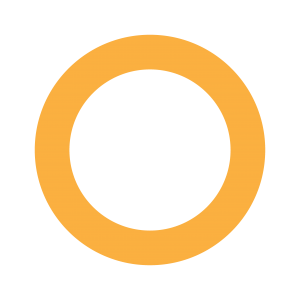 黃色環形展示圓圈