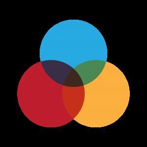 三原色交叉圖案