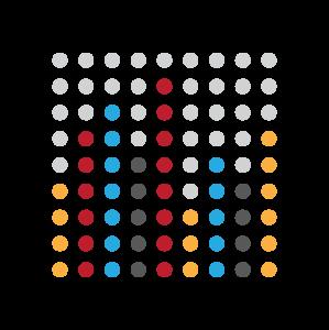 十乘十彩色点状图