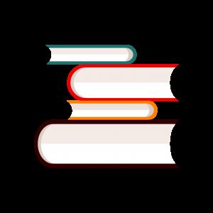 多色簡約書籍條紋