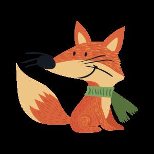 卡通可爱狐狸动物