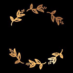 簡約金色樹葉