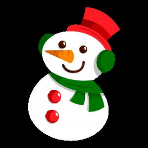 可愛彩色圣誕節雪人