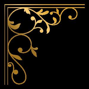 创意金色边框花边