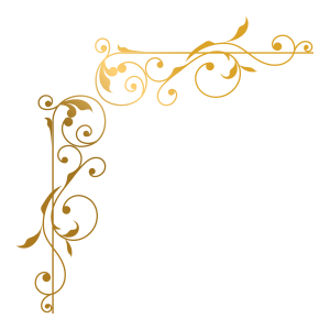 大氣金色花紋花邊