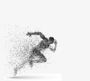 科技粒子奔跑的運動健兒