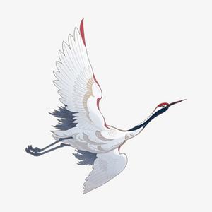 手绘中国传统文化仙鹤