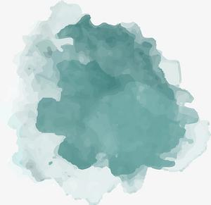 蓝色水墨喷绘png图