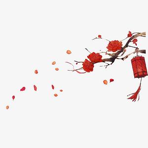 古風燈籠畫梅花