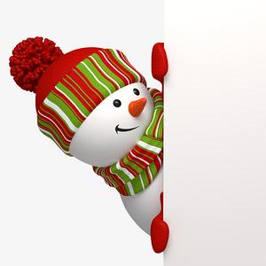 雪人圣誕節側邊裝飾