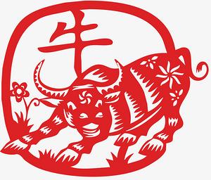 喜庆中国年剪纸牛