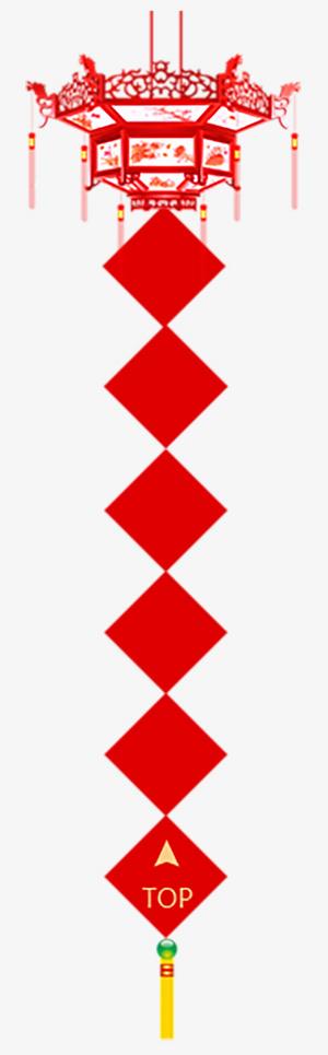 矢量图红色过年春节灯笼对联