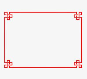 中國風紅色線條
