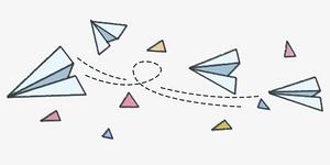 卡通纸飞机元素