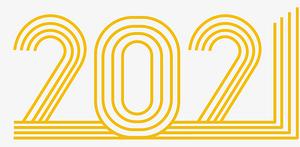 2021金色線條png