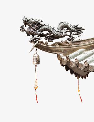 中國風節氣冬至海報屋檐素材免扣