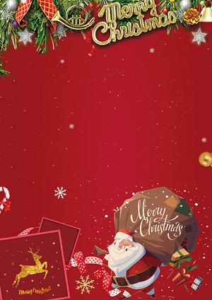 圣誕節紅色背景圖
