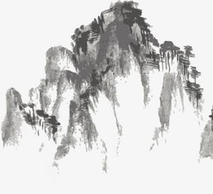 水墨畫,國風,古風,山