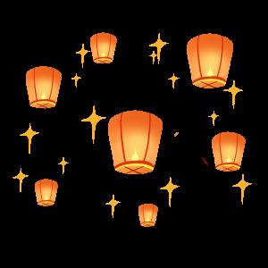 中元節中秋節放飛燈籠
