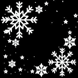 新年冬天雪花潔白雪花元素