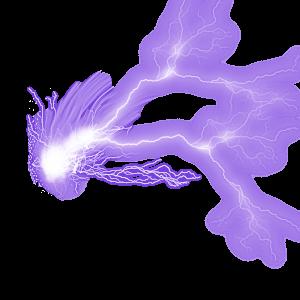 紫色闪电雷电免抠素材