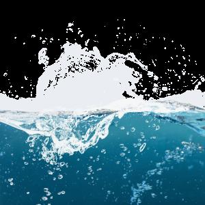海面蓝色海浪白色浪花元素