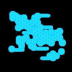 平面設計藍色科技幾何圖案元素