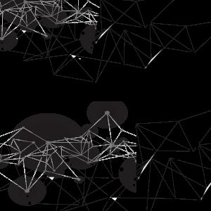 点线图案黑色水墨古风科技元素