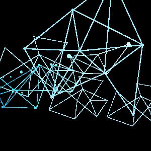 简约科技点线图案元素