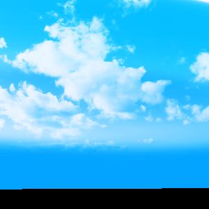 天空雨后蓝天白云效果元素