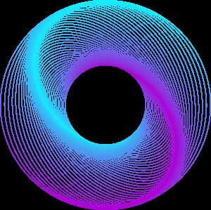 炫彩渐变几何曲线元素