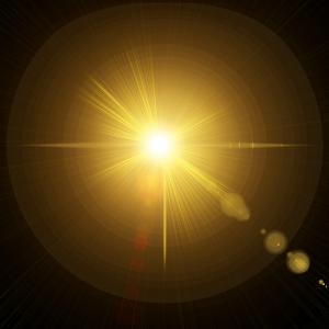 黃色炫光光源效果元素