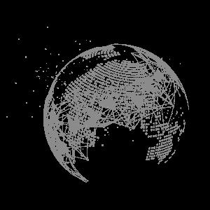 几何方块科技地球效果图案