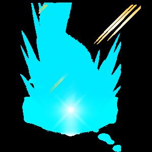 藍色炫光光暈元素