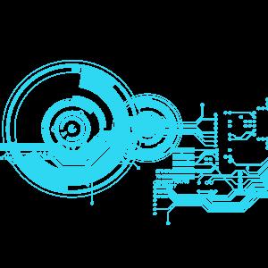 藍色科技電路圖電路板元素