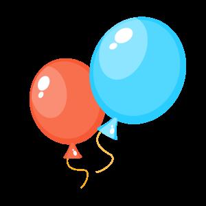 卡通氣球矢量手繪