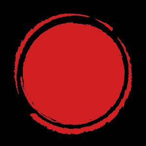 红色矢量圆形古风印章