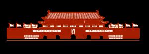 建党节天安门红色剪影元素