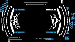 蓝色炫酷科技几何圆形图标