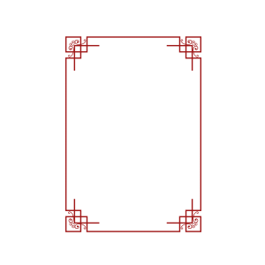 春节新年中国风红色矢量边框元素