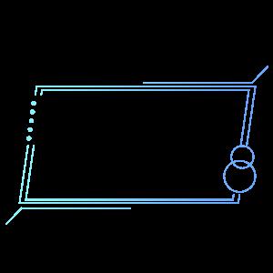 藍色漸變簡約線條科技感邊框